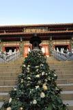 Entrance of the Po Lin Monastery Stock Photos