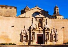 Entrance of Poblet Monastery Stock Photo