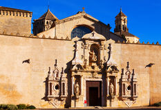 Entrance of Poblet Monastery Stock Image