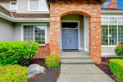 Entrance porch with brick trim Royalty Free Stock Images