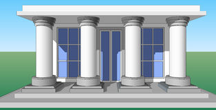 Entrance porch columns Stock Photography