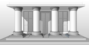 Entrance porch columns Royalty Free Stock Images