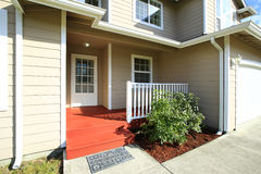 Entrance porch with railings. Stock Photos