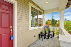 Entrance porch with rocking chair Stock Image