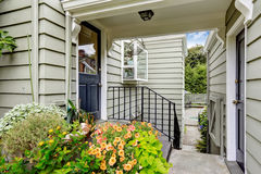 Entrance porch with walk-through to backyard Royalty Free Stock Images