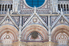 The entrance portal of the Cathedral l of Siena Stock Image
