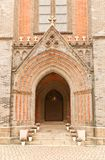 Entrance portal of Myeongdong Cathedral in Seoul Stock Photo