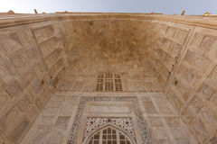Entrance portico marble ceiling to Taj Mahal Stock Image