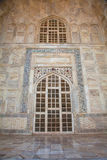Entrance portico marble to Taj Mahal Stock Photo