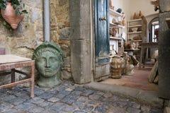 Entrance of pottery in Bolsena stock image