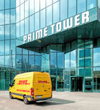 Entrance of the Prime Tower building in Zurich, Switzerland Stock Photos
