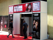 Entrance of Professional Beauty Expo 2015. Its photo of gate at Professional Beauty Expo 2015 at Mumbai,on 6 th oct 2015 stock images