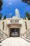 Entrance of the public library downtown Los Angeles Stock Photo