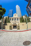 Entrance of the public library downtown Los Angeles Royalty Free Stock Photos