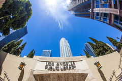 Entrance of the public library downtown Los Angeles Royalty Free Stock Image
