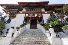 Entrance of Punakha Dzong in Bhutan Royalty Free Stock Photography