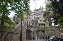 Entrance Quinta De La Regaleira Historical Center UNESCO Heritage Built By Carvalho Monteiro In The Seventeenth Century Of Roman,. Gothic, Renaissance And royalty free stock photo