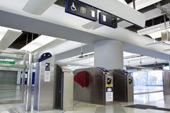 Entrance of Railway Station. In Hong Kong Stock Image