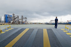 Entrance ramp on the ferry Stock Photography