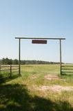 Entrance at Ranch Stock Images