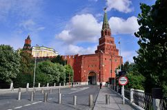 entrance in the tower of Kremlin & x28;Moscow& x29; Stock Photos