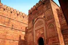 Entrance of the Red Fort in Agra Stock Photos