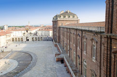 Entrance of the Reggia di Venaria in Italy Royalty Free Stock Image