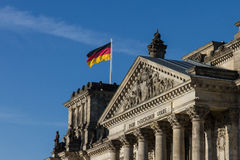 Entrance of the Reichstag in Berlin Stock Image