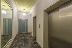 Entrance of a residential building with an elevator Royalty Free Stock Photography