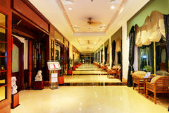 Entrance in restaurant and interior of hotel Stock Photos