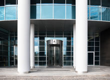 Entrance with revolving door Royalty Free Stock Images