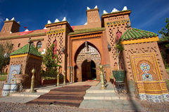 Entrance of a Riad iin Morocco Stock Images