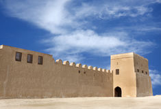 The entrance of Riffa Fort in corner of  NW wall Stock Image