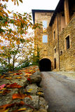 Entrance road to the castle in autumn Stock Photography