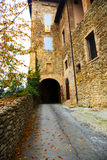 Entrance road to the castle in autumn Stock Photos