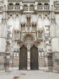 Entrance Roman Catholic church st.Elizabeth Kosice Slovakia. Royalty Free Stock Photography