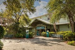 Entrance of the Rookery Bay Environmental Learning center in Marco Island, Florida. Marco Island, Florida, USA – March 10, 2018: Entrance of the Rookery royalty free stock photo