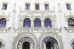 Entrance of Rossio Train Station Royalty Free Stock Images