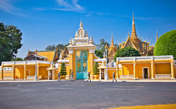 The entrance of Royal palace inPhnom Penh, Cambodia. Stock Images