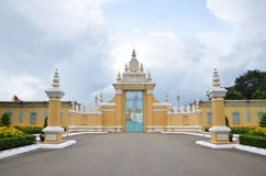 The entrance of Royal palace inPhnom Penh, Cambodia Stock Images