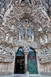 Entrance Sagrada Familia, Barcelona, Spain Royalty Free Stock Photography