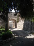 Entrance of Saint Paul de Vence, near the cemetery. Entrance of Saint Paul de Vence near the cemetery, in the south of France in summer Royalty Free Stock Photography