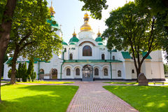 Entrance in Saint Sophia Cathedral in Kiev. Front view on Saint Sophia Cathedral in Kiev, Ukraina in summer day royalty free stock image