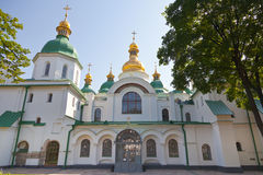 Entrance in Saint Sophia Cathedral in Kiev. Front view on Saint Sophia Cathedral in Kiev, Ukraine in summer day Stock Photography