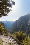 Entrance of the Samaria Gorge Royalty Free Stock Photos