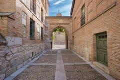 Entrance of Santa Clara Convent in Tordesillas Stock Image
