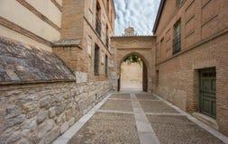 Entrance of Santa Clara Convent in Tordesillas Royalty Free Stock Photos