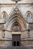 Entrance of Santa Maria del Mar Stock Image