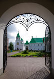 Entrance in Saviour Monastery. Forged decorated entrance in Murom Saviour Monastery, Central Russia Royalty Free Stock Photography