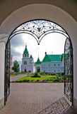 Entrance in Saviour Monastery. Forged decorated entrance in Murom Saviour Monastery, Central Russia Stock Photos